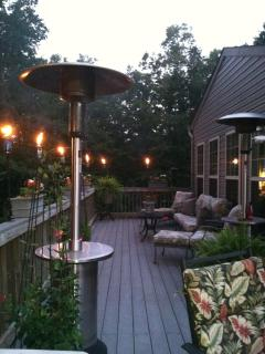 Outside Upper Back Deck at Dusk