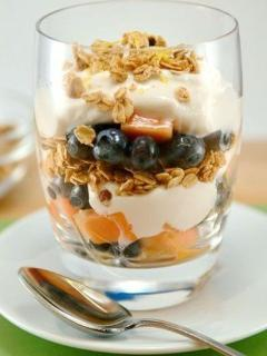 Enjoy our famous breakfast parfait daily.