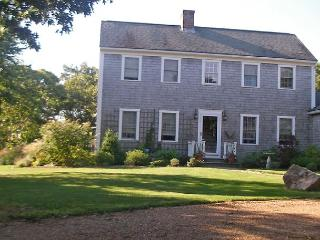 Chappy saltbox with large yard, porch, patio and deck., Edgartown