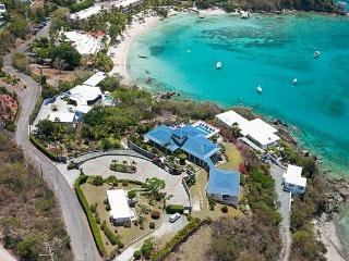Walk down to the white sands of Secret Harbour beach from this villa. MA BLS, East End