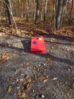 Recently added cornhole boards.  Always fun to play!