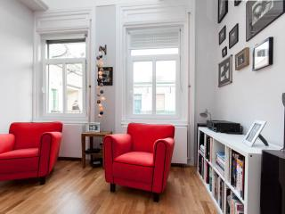 Fashionable high-ceiling luxury top floor apartment, Budapest
