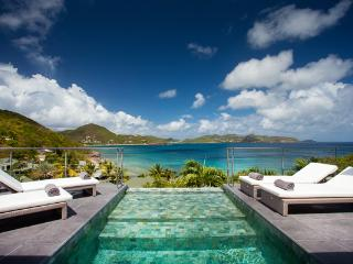 Located in the hillside offering breathtaking views WV AUS, St. Barthelemy