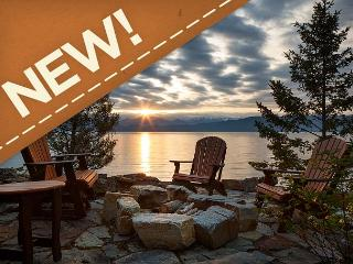 NEW! Rustic Luxury on the Shore of Flathead Lake!, Lakeside