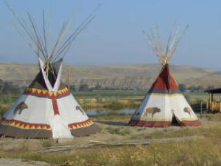 Tipi Rental Near Yellowstone Park, Belfry