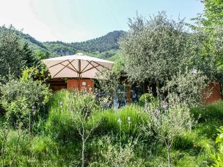 Divine bungalow for 4 in Brescia province with lush gardens, overlooking Lake Garda & mountains, Tignale