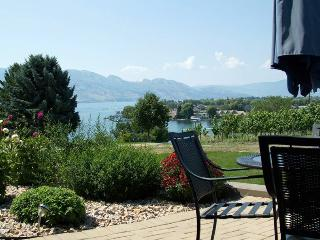 Lake, mountains and vineyard serenity, West Kelowna