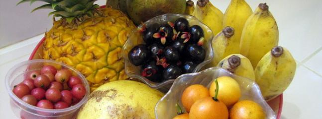 Fresh Fruit Bowl Grown on our Property