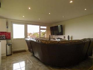 KIMING APARTMENT, all ground floor, 50' TV, WiFi, lawned communal gardens, 10-minute walk to beach in Bude, Ref 923152