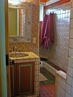 Fountain Suite bathroom with gorgeous tile