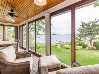 MILLH - Impeccable Lagoon Waterfront Cottage, Designer Details, Gorgeous Views and Lanscaping, 2nd Level Deck, Screened Porch, Vineyard Haven