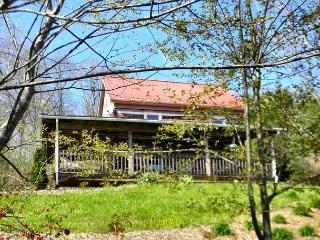 'ALMOST PARADISE'  Blue Ridge Mtn Cabin W/Hot Tub & WiFi in Private Setting!, Lansing