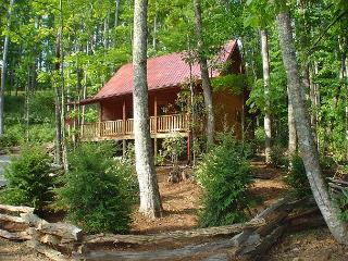 'BABBLING BROOK ' Creekside Log Cabin With Hot Tub, WiFi & Fire Pit, Todd