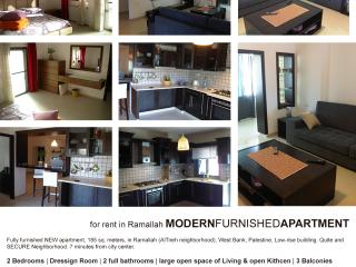 Modern Furnished Apartment for rent in Ramallah, Cesarea