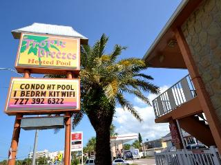 Tropic Breezes #14 - Second floor, Gulf view condo with Pool & BBQ, Madeira Beach