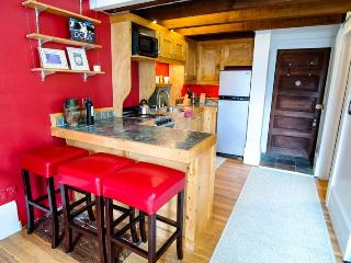 Enjoy the convenience of walking everywhere in downtown Telluride while staying in this renovated historic studio condo.