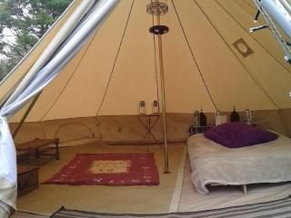 Glamp at The Valley Campsite (Furnished Bell Tent), Llanteg