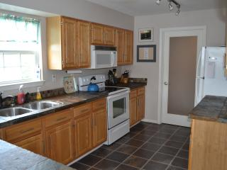 Fully stocked kitchen off of the living room, perfect for socializing