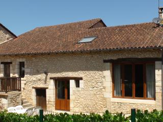 Stone cottage in Bourdeilles with  pool