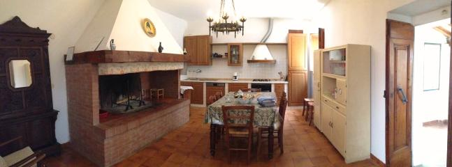 The wide kitchen of the apartment Maria