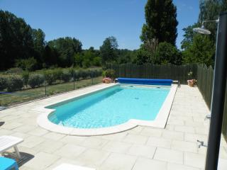 Cheerful holiday home with swimming pool in Loire, Beaumont-en-Veron