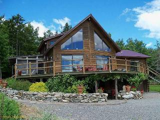 Log home farm with mt. Views,  landscaped grounds, Bucksport