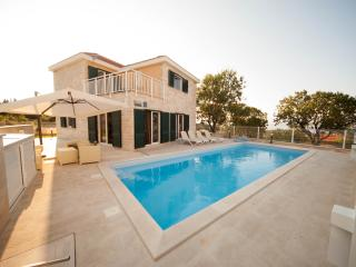 Lovely villa with large pool and a sea view, Skrip