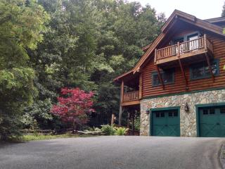 Waterfall View - Luxury Log Cabin - Maggie Valley