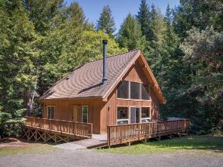 2BR home/w private hot tub; fireplace; Redwood access, Mendocino