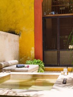 Plunge pool at master bath Casa Nuevo