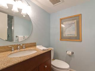 South bathroom with a walk in shower