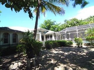 West end home with pool across from beach, Sanibel Island