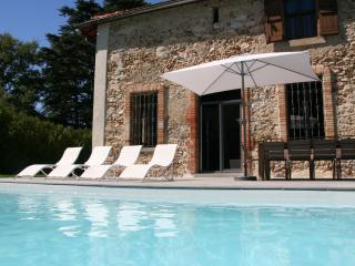 Luxury cottage, 10 p., heated swimming pool, airco, Soreze