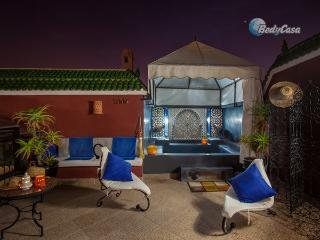 Riad-  traditional Moroccan house with courtyard in Marrakesh, Medina, at Patrick's place, Marrakech