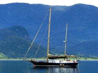 Sailing Yacht in Paraty bay