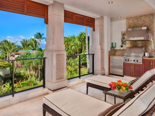 E202 Ocean Pearl Beautiful Private Covered Veranda with Partial Ocean View, Viking BBQ, Chaise Lounge Chairs, Dining and Relaxing Space