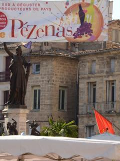 Drive to Pézenas, a medieval market town, magnificent faded grandeur, 10 minutes away