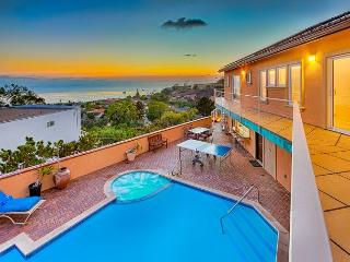 Private pool and jacuzzi, panoramic ocean, sunset, and city views, game room, La Jolla
