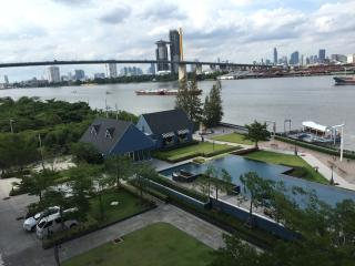 River front, panoramic stuning view, cool breeze, Bangcoc