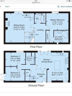 First two levels floor plan