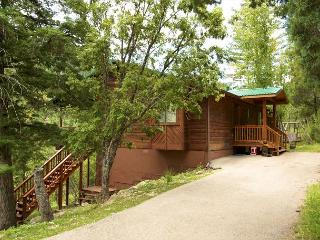 Riverside House is located in the wooded Upper Canyon with lots of wildlife., Ruidoso