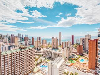 The view - from a 22nd floor at Gemelos 26 towers, Benidorm