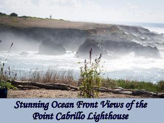 Ocean Dreams - Gorgeous Ocean Front - with views of the Light House, Mendocino
