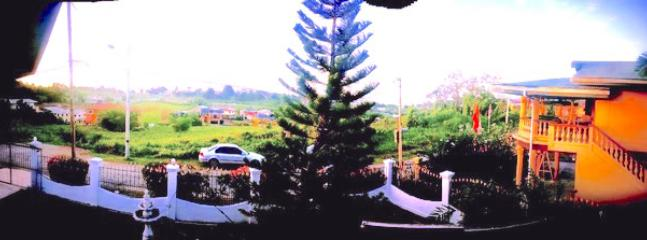 Panoramic view from porch upstairs.. San Fernando hill view