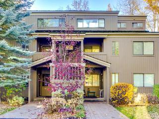 Cozy condo with mountain views, shared hot tub, private deck, Ketchum