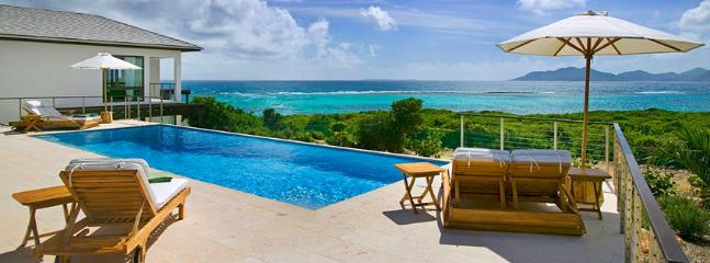 Villa Triton AVAILABLE CHRISTMAS & NEW YEARS: Anguilla Villa 16 Sitting On The South Shore, Anguilla Villa 16 Commands Stunning Views Of The Secluded Cove Beach And The Mountains Of St. Martin., Little Harbour