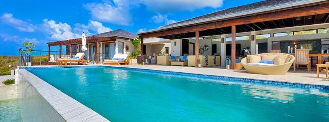 Villa Triton AVAILABLE CHRISTMAS & NEW YEARS: Anguilla Villa 112 Sitting On The South Shore, Anguilla Villa 112 Commands Stunning Views Of The Secluded Cove Beach And The Mountains Of St. Martin., Little Harbour