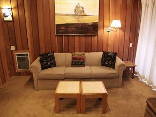 Cute woodsy 2 bedroom 2 bath condo walking distance to Canyon Lodge., Mammoth Lakes