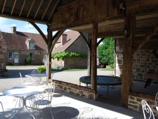 Group accommodation with typical dining and pool, Carrouges