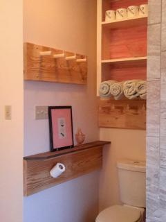 Remodeled master bath with additional storage